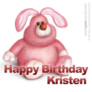 happy birthday Kristen rabbit card