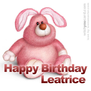 happy birthday Leatrice rabbit card