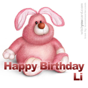 happy birthday Li rabbit card