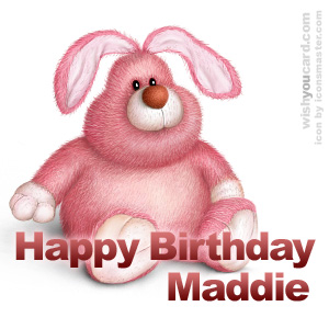 happy birthday Maddie rabbit card