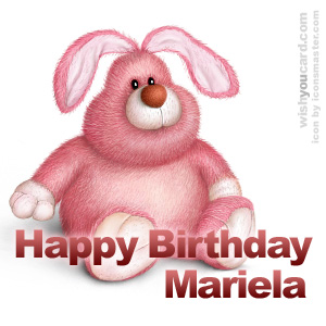 happy birthday Mariela rabbit card