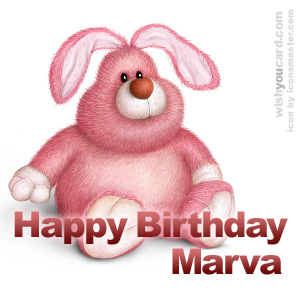 happy birthday Marva rabbit card