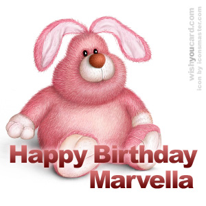 happy birthday Marvella rabbit card