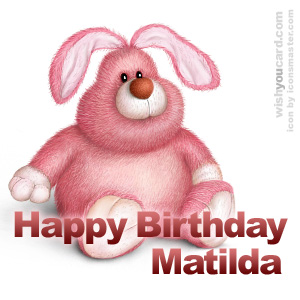 happy birthday Matilda rabbit card