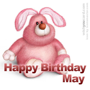 happy birthday May rabbit card