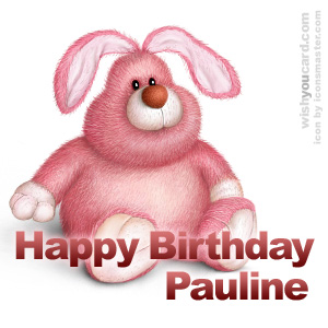 happy birthday Pauline rabbit card