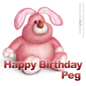 happy birthday Peg rabbit card