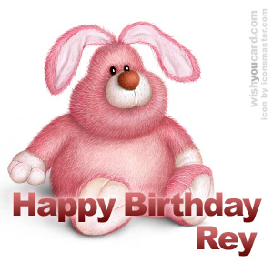 happy birthday Rey rabbit card