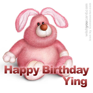happy birthday Ying rabbit card