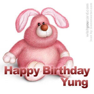 happy birthday Yung rabbit card