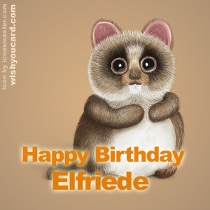 happy birthday Elfriede racoon card