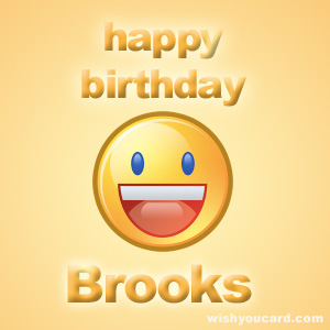 happy birthday Brooks smile card