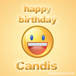 happy birthday Candis smile card
