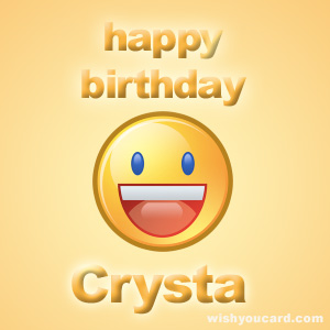 happy birthday Crysta smile card