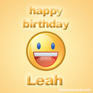 happy birthday Leah smile card