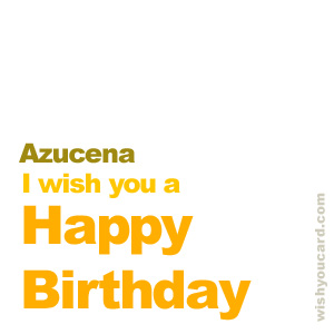 happy birthday Azucena simple card