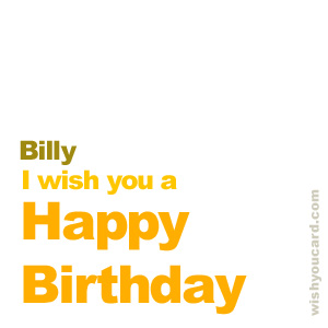 happy birthday Billy simple card