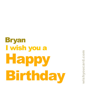 happy birthday Bryan simple card