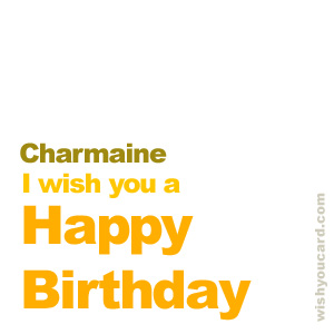 happy birthday Charmaine simple card