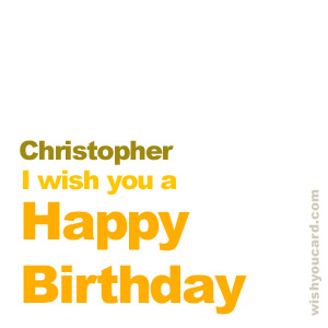happy birthday Christopher simple card