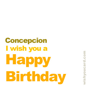 happy birthday Concepcion simple card