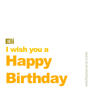 happy birthday Eli simple card