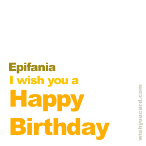 happy birthday Epifania simple card