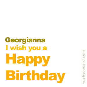 happy birthday Georgianna simple card