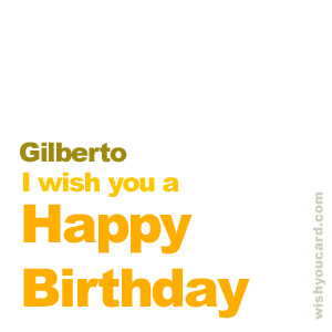 happy birthday Gilberto simple card