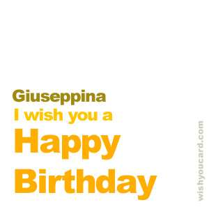 happy birthday Giuseppina simple card