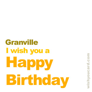 happy birthday Granville simple card