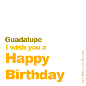 happy birthday Guadalupe simple card