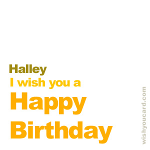 happy birthday Halley simple card