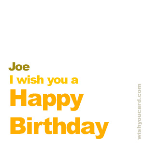 happy birthday Joe simple card