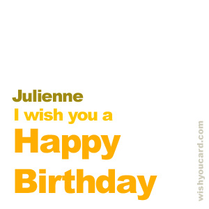 happy birthday Julienne simple card