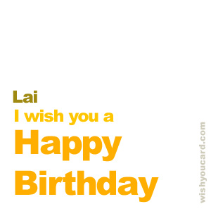 happy birthday Lai simple card
