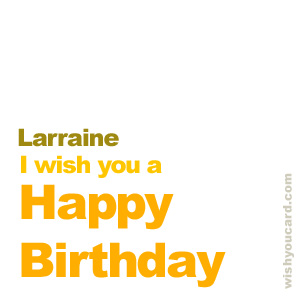 happy birthday Larraine simple card