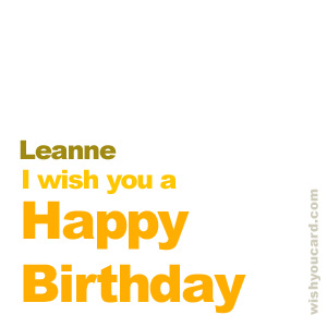 happy birthday Leanne simple card