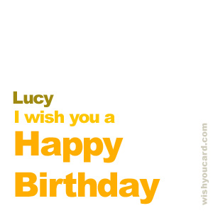 happy birthday Lucy simple card