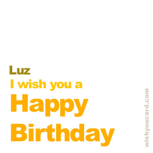happy birthday Luz simple card