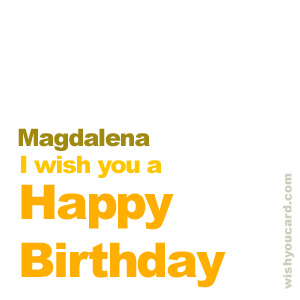 happy birthday Magdalena simple card