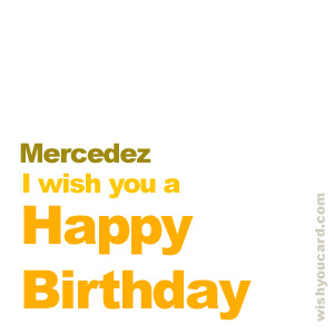happy birthday Mercedez simple card