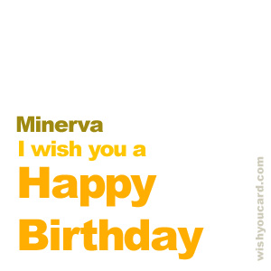 happy birthday Minerva simple card