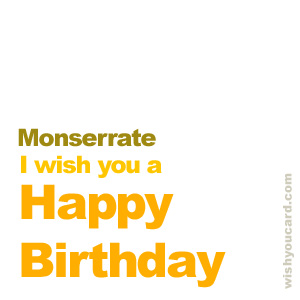 happy birthday Monserrate simple card