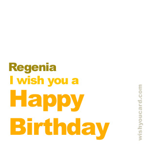 happy birthday Regenia simple card
