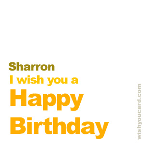 happy birthday Sharron simple card