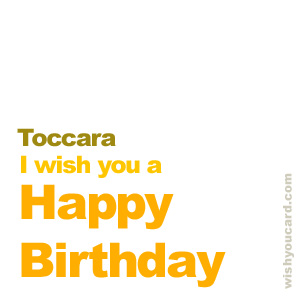 happy birthday Toccara simple card